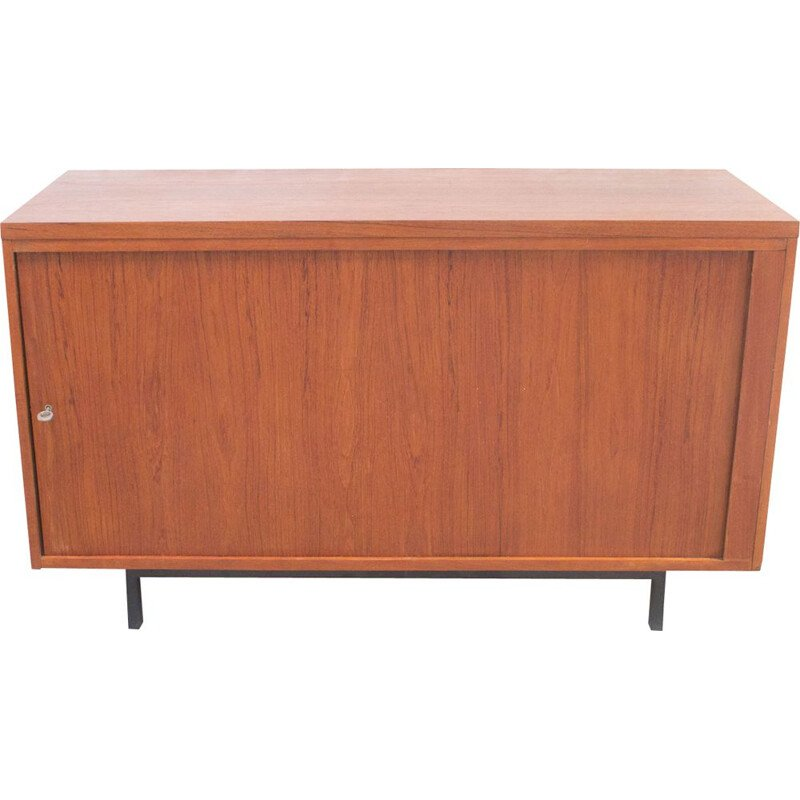 Vintage scandinavian highboard in teak and metal 1970