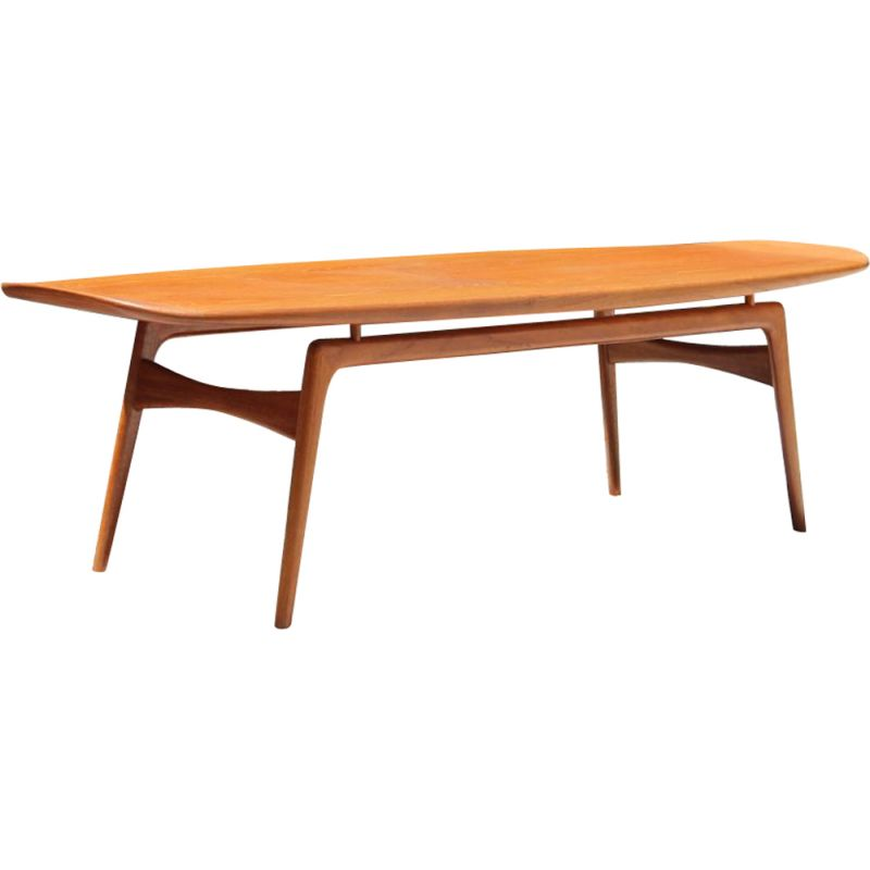 Scandinavian vintage coffee table for Mogens Kold in teak 1960