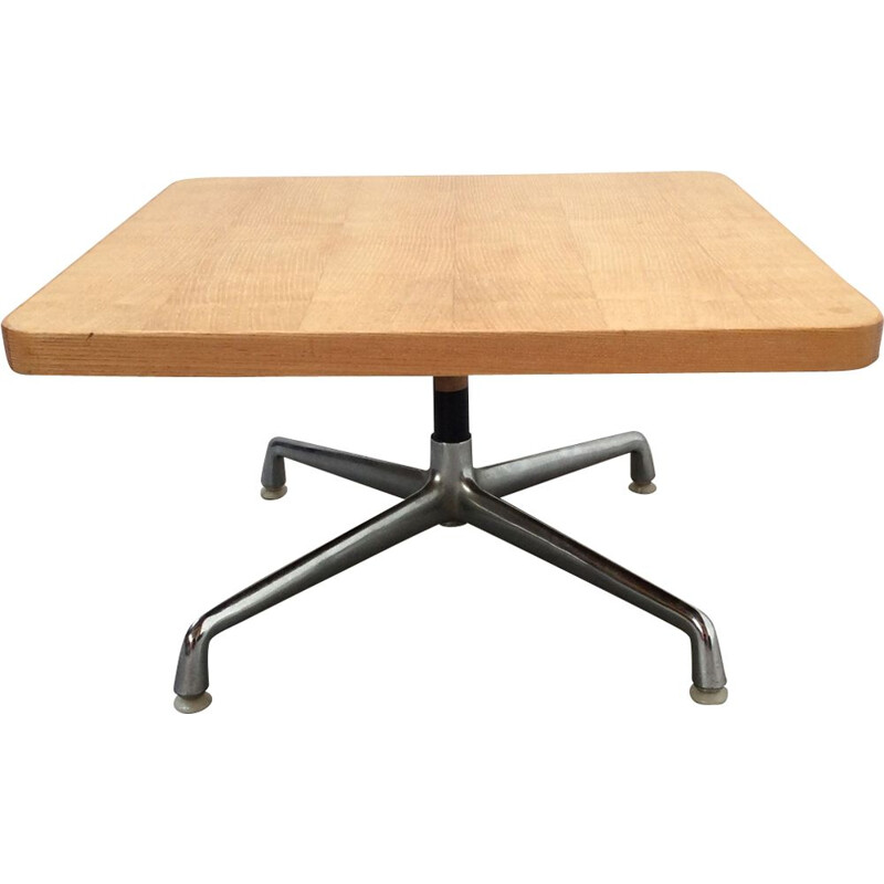 Vintage Eames coffee table for Miller in wood and steel 1960