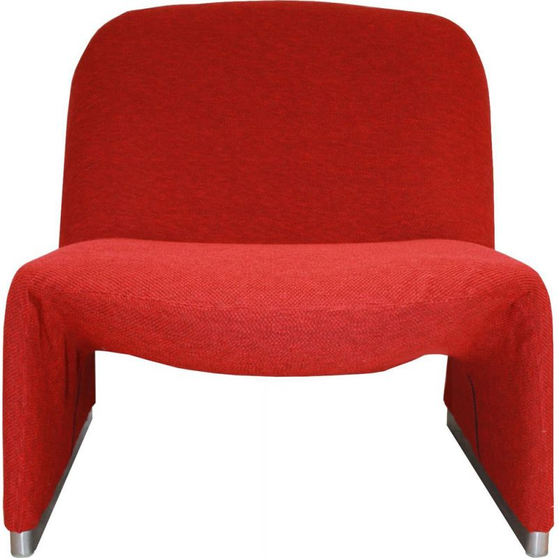 Vintage Alky red armchair by Piretti for Castelli