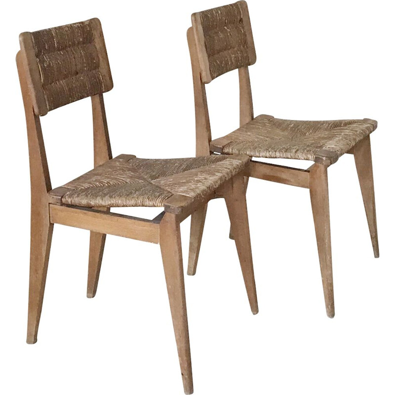 Pair of vintage mulched chairs 1950