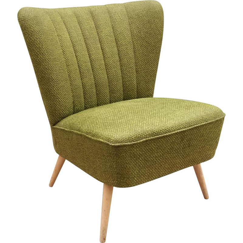 "Vintage ""cocktail"" green armchair from the 60s"