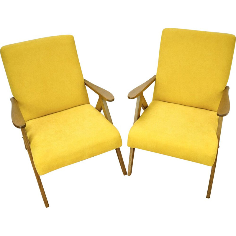 Pair of vintage armchairs by Radomsko,1970