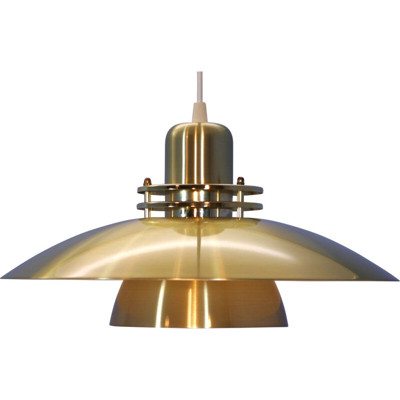 Danish pendant in brass-coated aluminium,1980