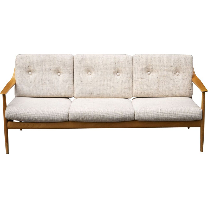 Vintage 3-seater sofa by Wilhelm Knoll,1960