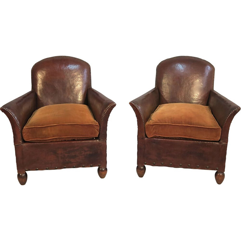 Pair of club chairs 1930