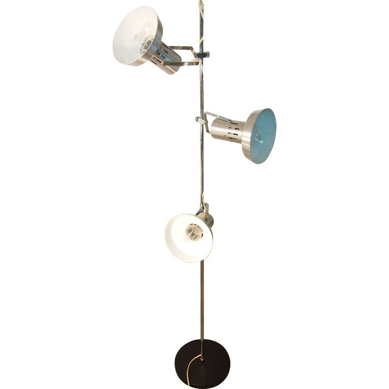 Vintage floor lamp by Disderot in chrome,1960