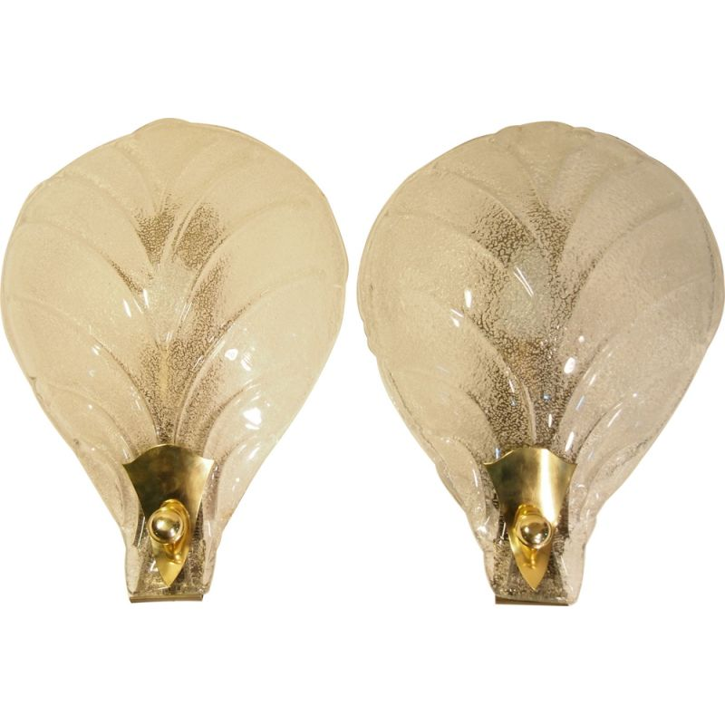 Pair of vintage wall light by Barobier Toso,1960