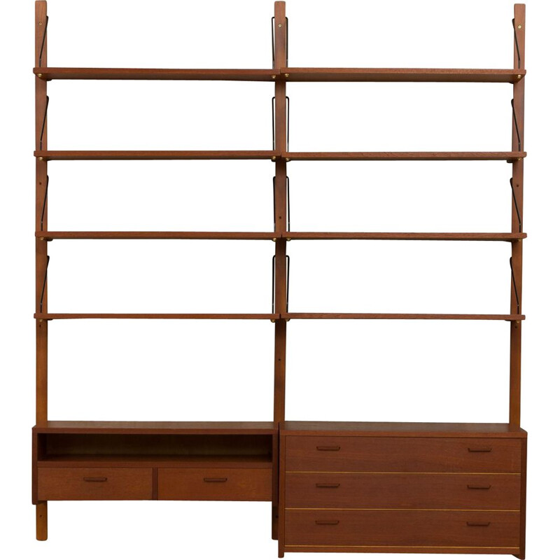 Vintage Danish wall shelf in teak,1960