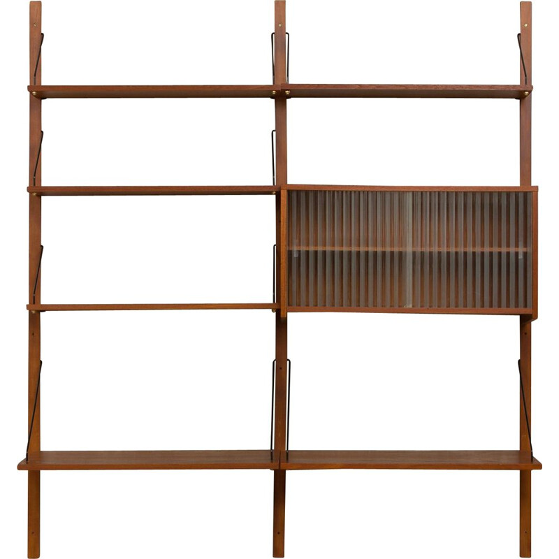Vintage Danish wall unit in teak,1960