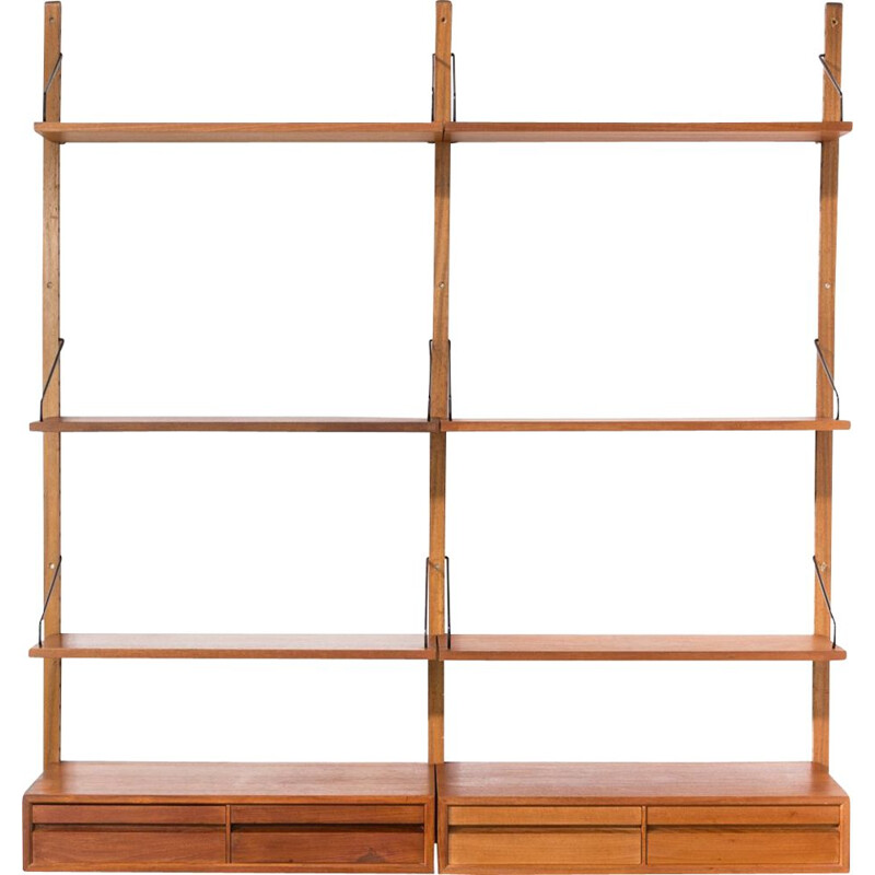 Vintage wall unit by Poul Cadovius for Royal System 1960s