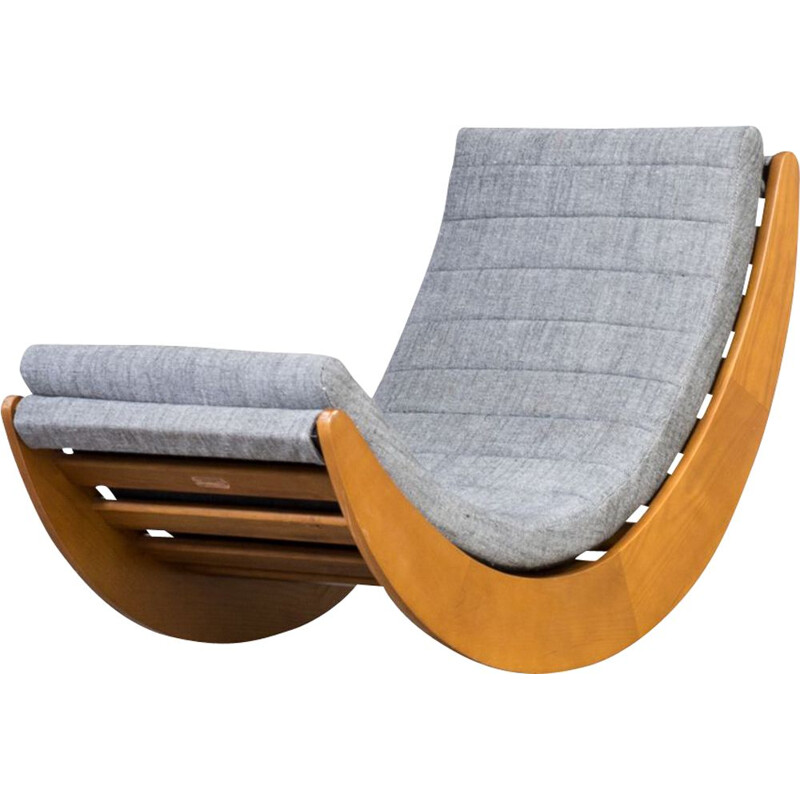 Vintage lounge rocking chair by Verner Panton for Matzform 1990s