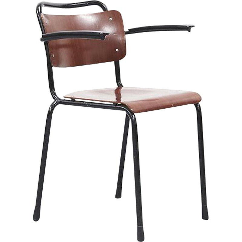Vintage chair 206 with armrests by Gispen 1960s