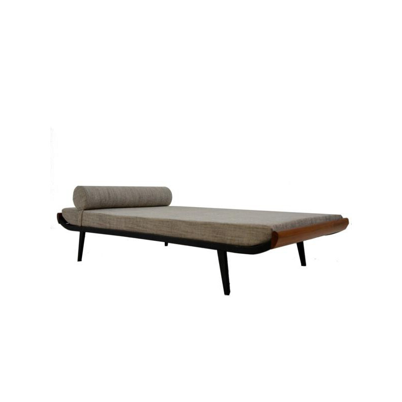 Cleopatra daybed in teak and fabric, Dick CORDEMEIJER - 1960s