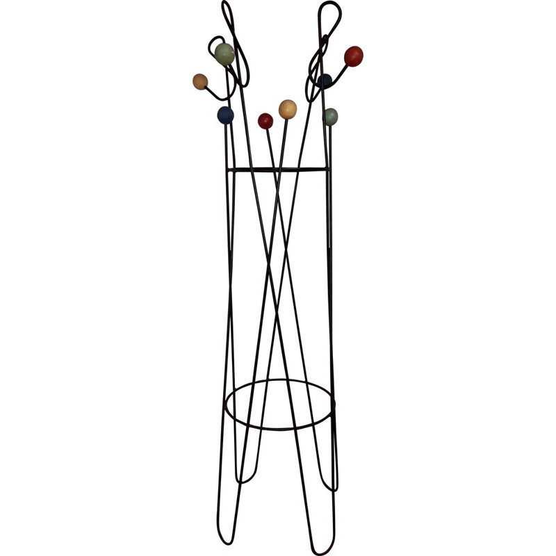 Vintage coat rack Clé de Sol by Roger Feraud France 1960s
