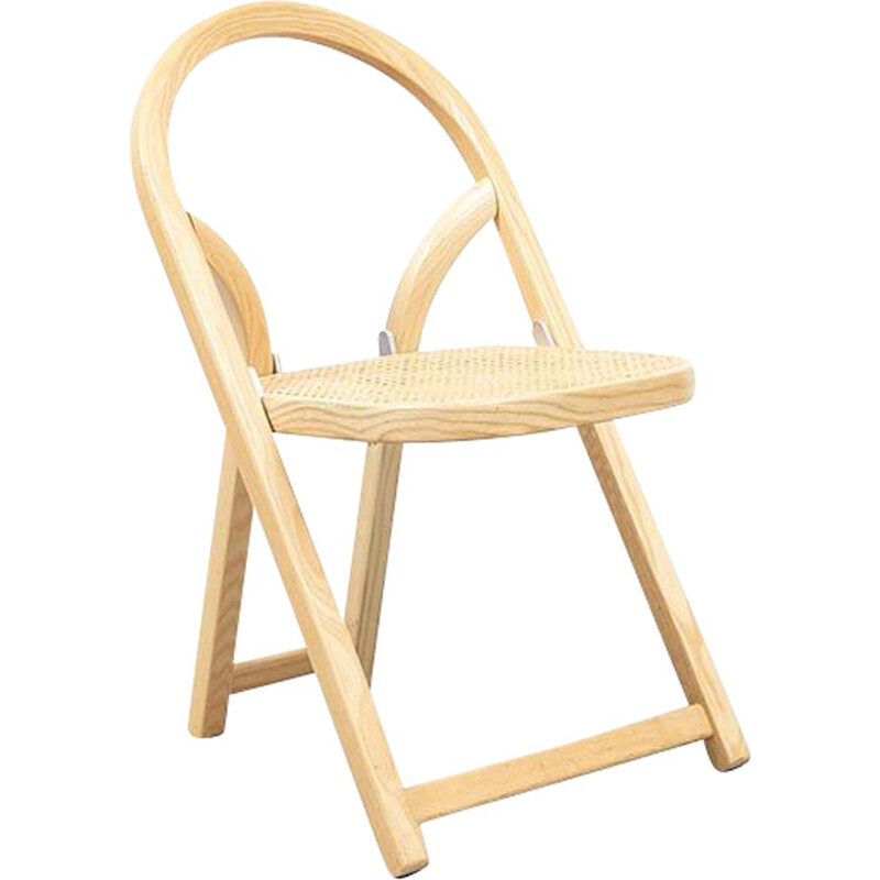 Italian vintage chair for Crassevig in solid ash 1970