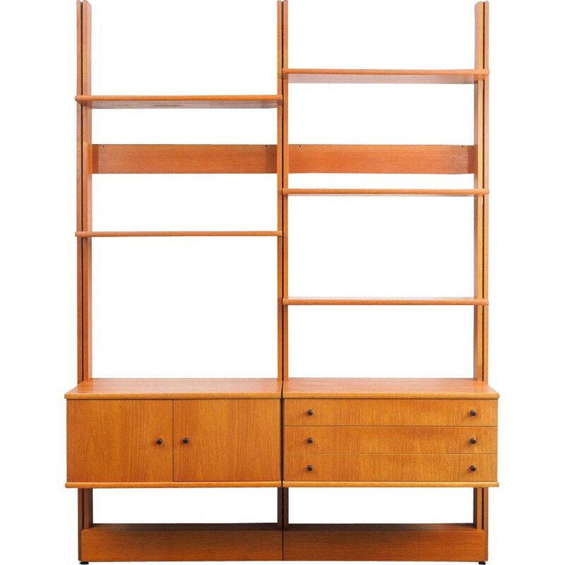 Vintage wall unit for WK Germany in teakwood 1960