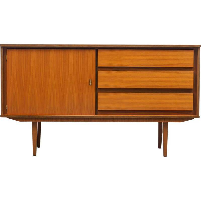 Vintage small restored sideboard in walnut 1960