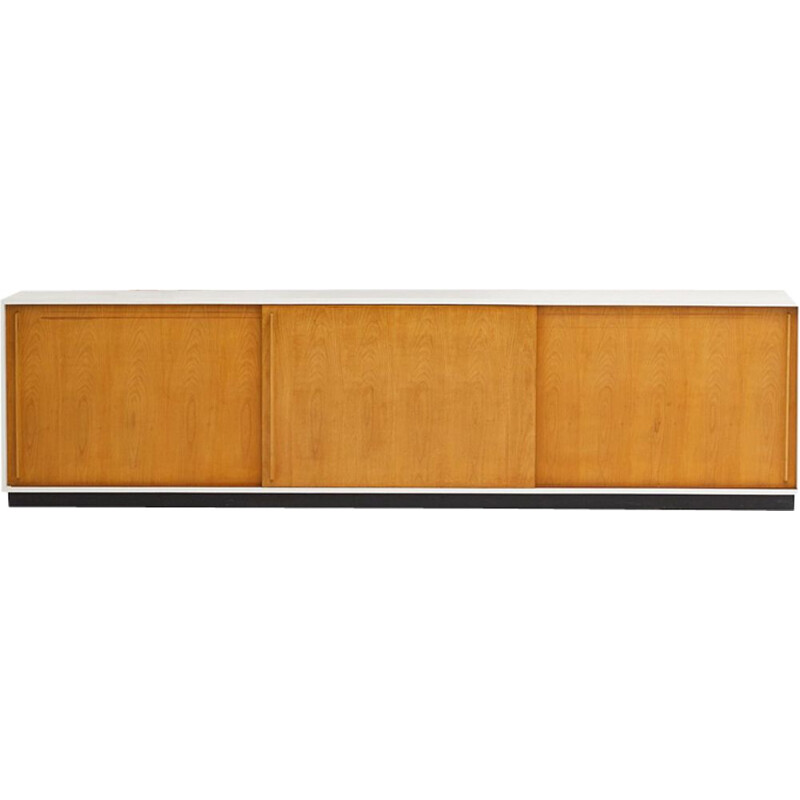 Vintage sideboard in light wood 1960