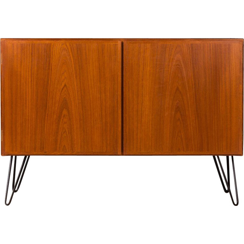 Vintage danish sideboard for Omann Jun in teak and steel 1960
