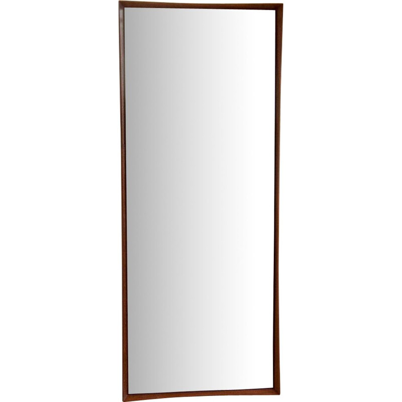 Vintage scandinavian mirror in teakwood 1960