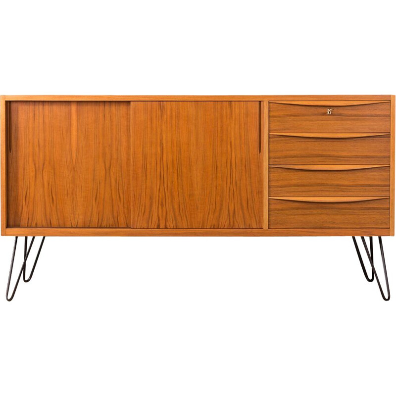 Vintage scandinavian sideboard in walnut 1950