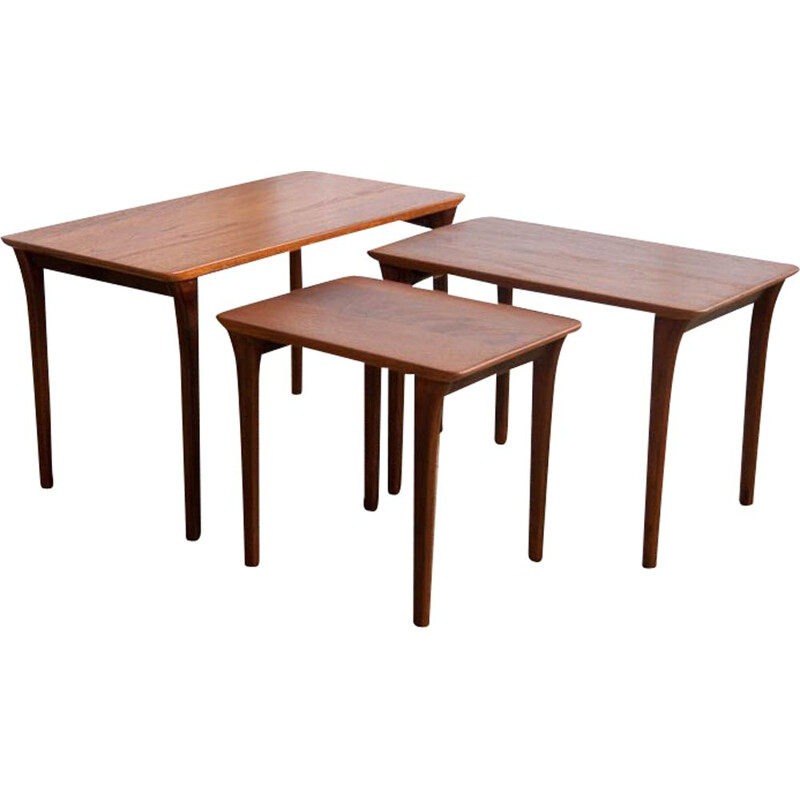 Set of vintage rosewood nesting tables 1960