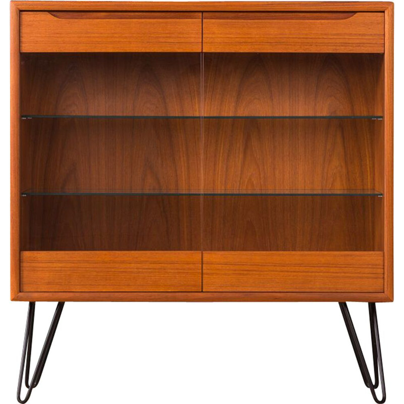 Vintage scandinavian showcase in teak and glass 1960