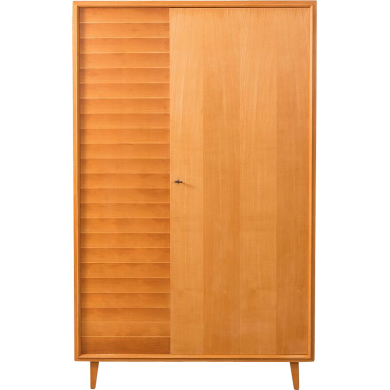 Vintage wardrobe for WK Möbel in cherrywood 1950