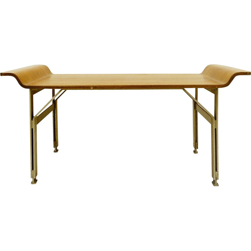 Pair of vintage benches by Alberti Reggio Eugenia and Rinaldo Scaioli Italy 1960s