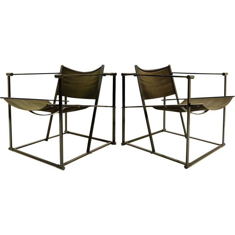 Pair of vintage armchairs Cube model FM61 by Radboud Van Beekum for Pastoe 1970s