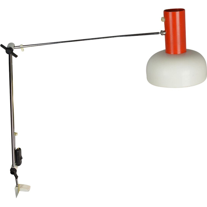 Vintage drawing lamp by J. Hurka, Napako Czechoslovakia, 1960s