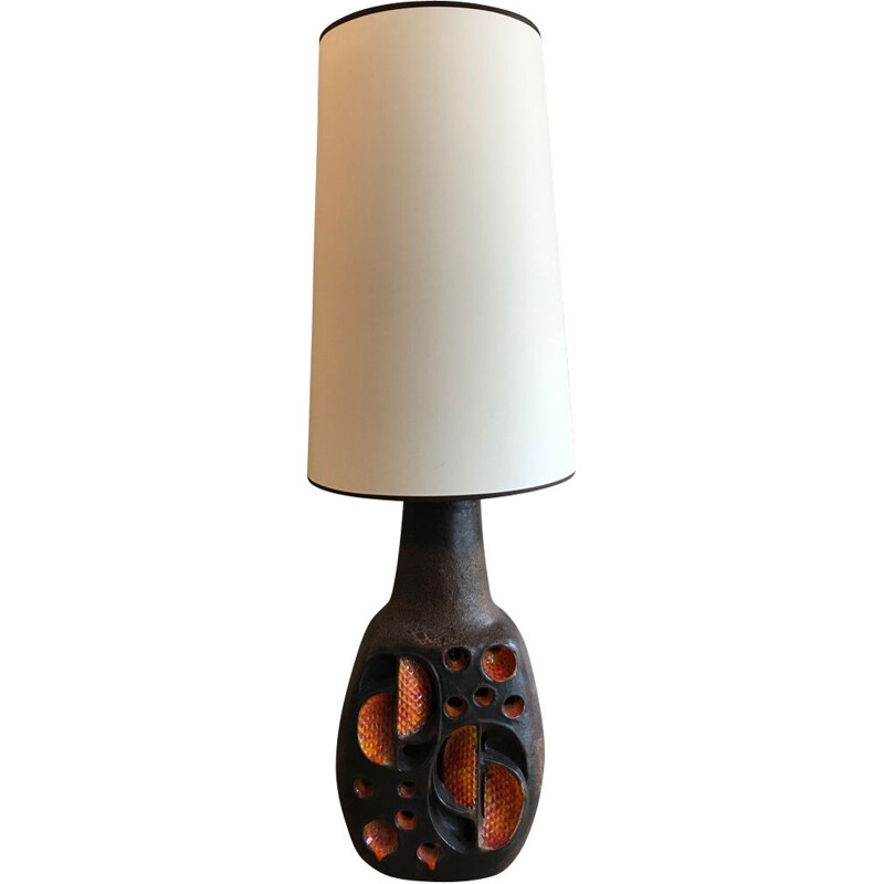 Vintage lamp in ceramic France 1970s