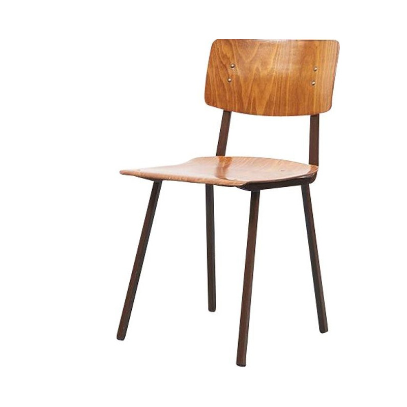 Vintage Kwartet oak chairs by Marko 1960s