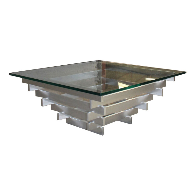 David Hicks vintage aluminium kinetic coffee table
