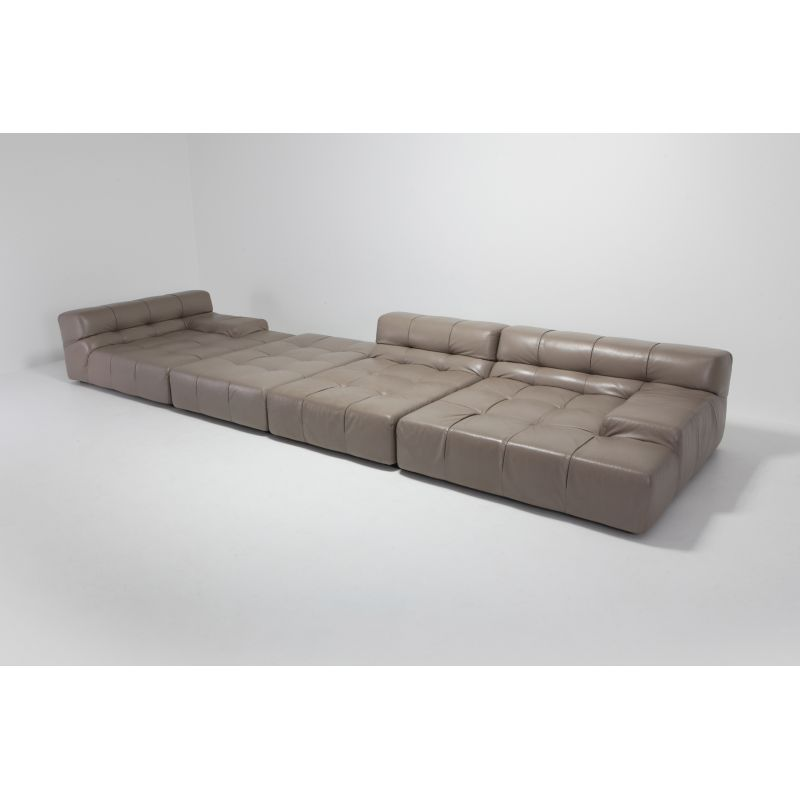 Groovy Vintage Sectional Sofa Tufty Time In Taupe Leather By Patricia Urquiola For Bb Italia 2010S Onthecornerstone Fun Painted Chair Ideas Images Onthecornerstoneorg