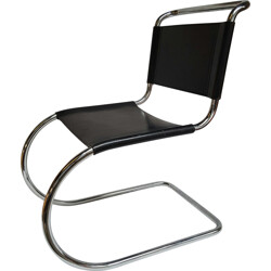 Chair in chrome and leather, Ludwig MIES VAN DER ROHE - 1950s