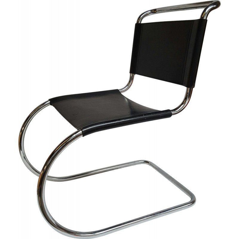 Chair In Chrome And Leather, Ludwig MIES VAN DER ROHE   1950s   Design  Market