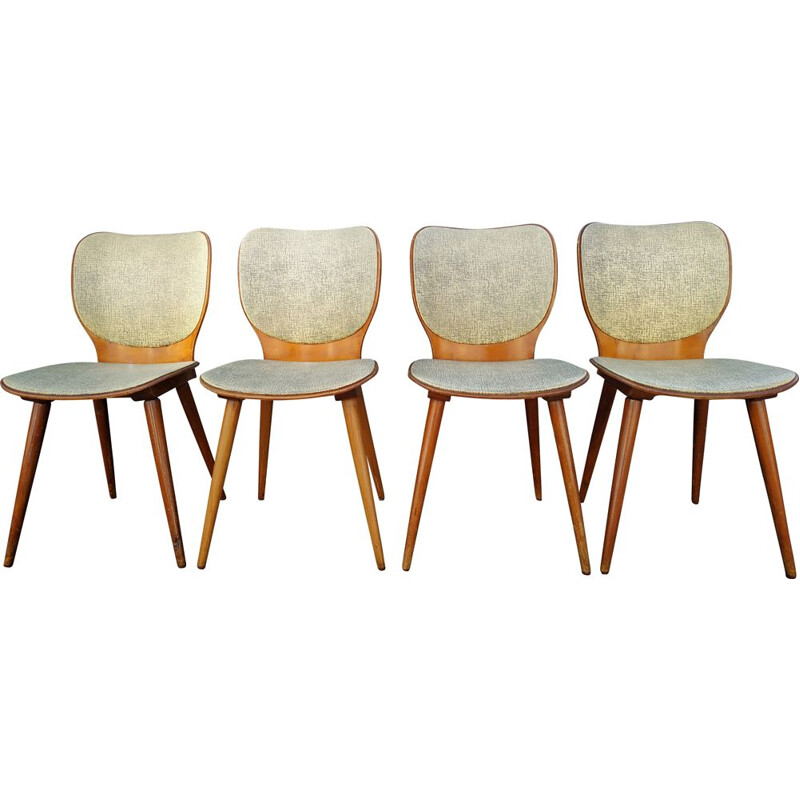 Set of 4 vintage chairs Baumann by Max Bill 1950s