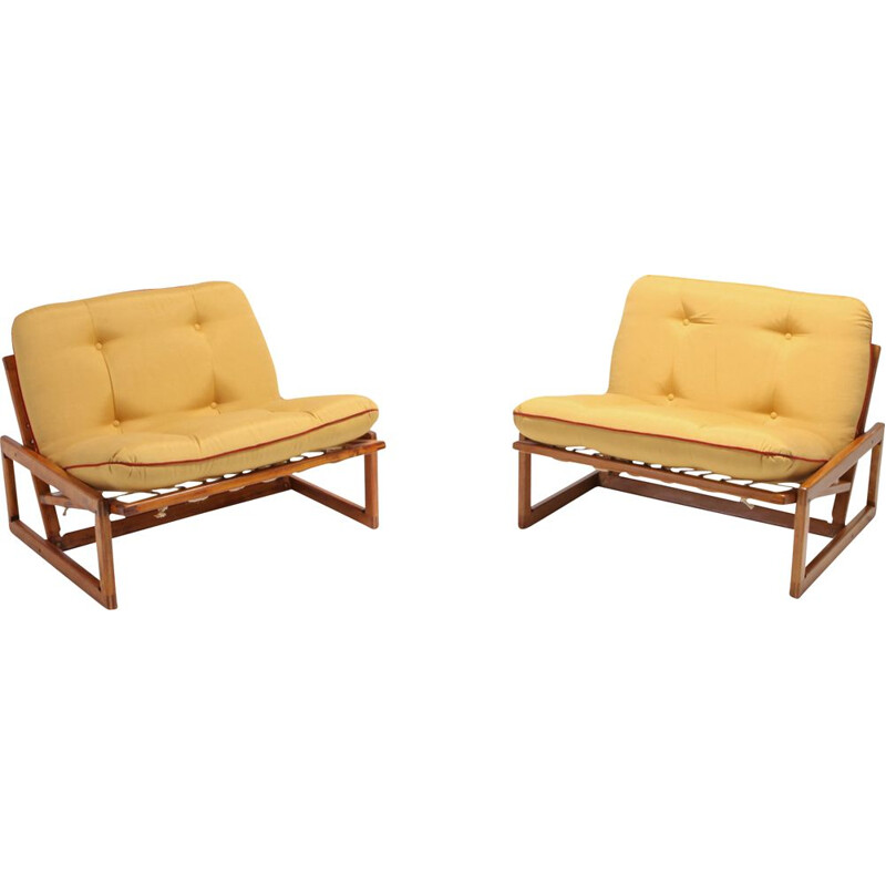 Pair of vintage lounge chairs Carlotta by Afra & Tobia Scarpa for Cassina 1960s
