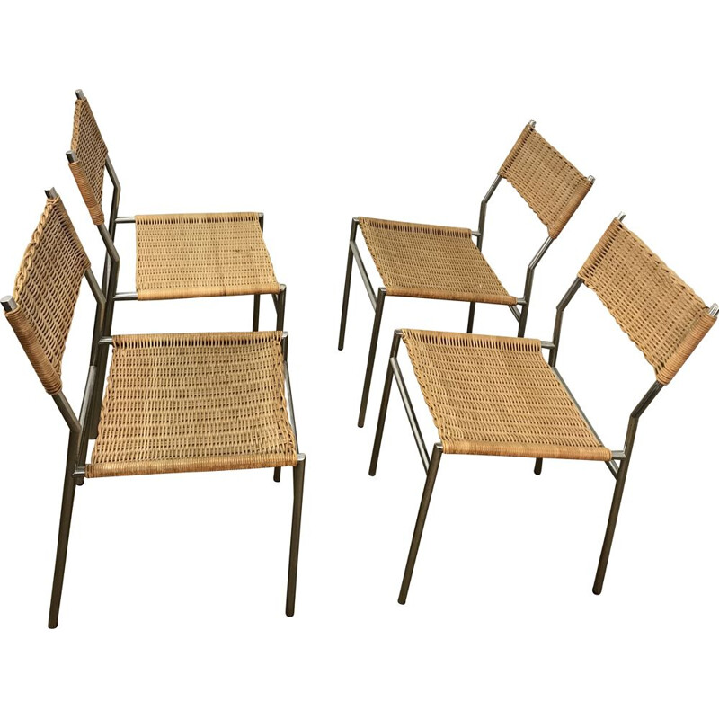 Set of 4 vintage chairs by Martin Visser for Spectrum, model SE05, 1960s