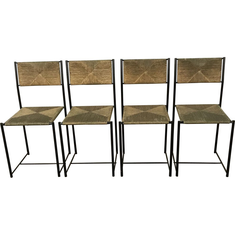Set of 4 vintage chairs model Paludis 150 for Alias 1970
