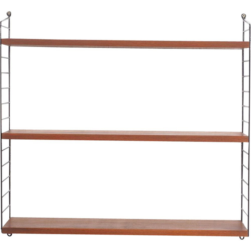 Vintage string shelf teak, N. Strinning