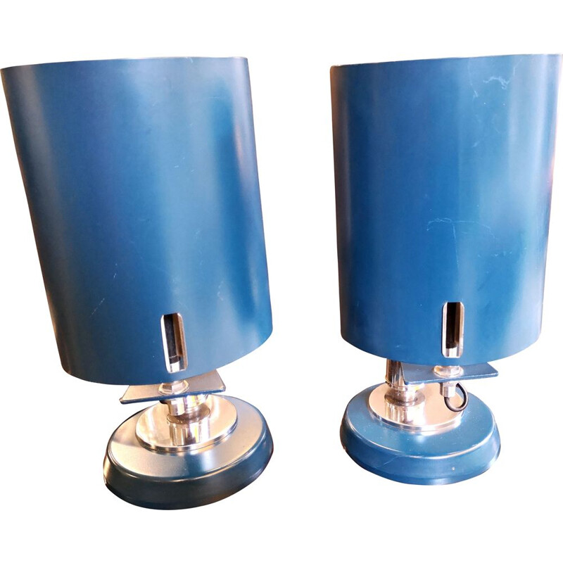Vintage pair of Scandinavian bedside lamp,1970