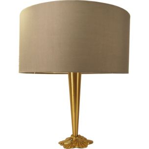 Vintage brass table lamp by Lucien Gau,1980