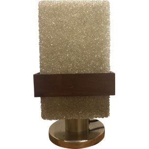 Vintage table lamp with resin lampshade from the 60s