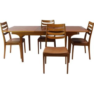 6 vintage dining chairs by Nathan, 1970