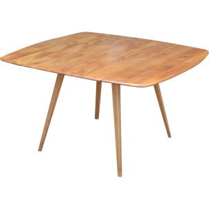 Vintage table for Ercol in elm and beech 1950