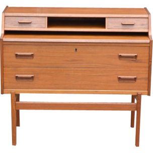 Scandinavian vintage writing desk for Vinde in teakwood 1960