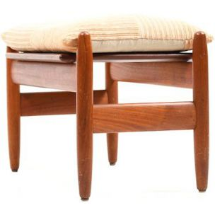 Vintage danish footstool for Frem in teakwood 1950s